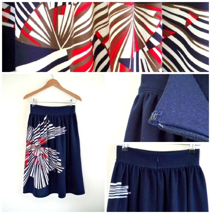 Navy print skirt vs2