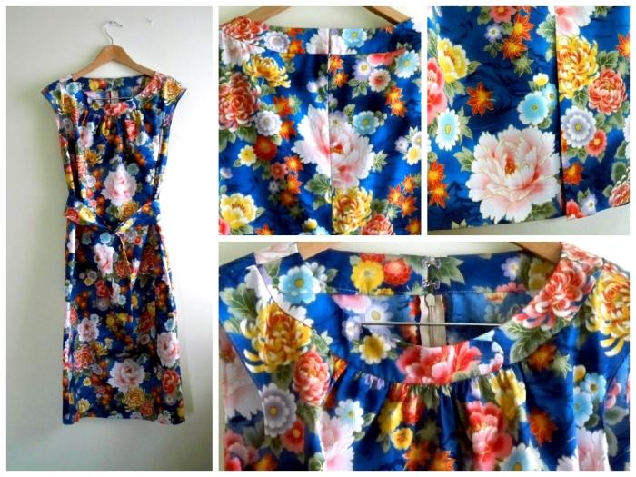 blue 50s dress Burda 7253